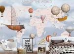 Giới thiệu mẫu decal dán tường bản đồ thế giới Hà Nội
